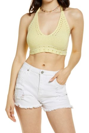 BP. Women's Shaker Stitch Sweater Halter Top