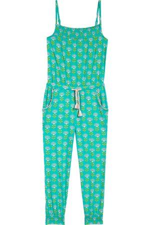 Boden Girl's Kids' Floral Tassel Tie Jersey Jumpsuit