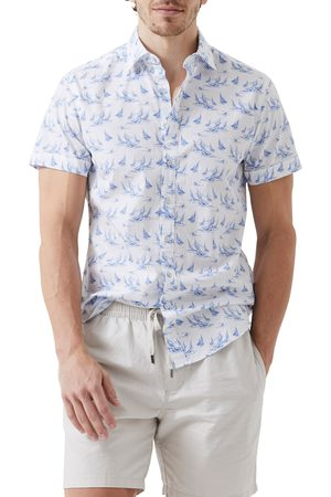 Rodd & Gunn Men Short sleeves - Men's Gisborne Sports Fit Boat Print Short Sleeve Button-Up Shirt