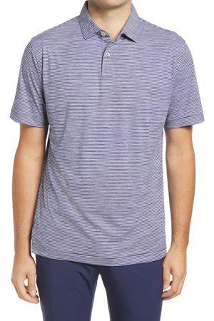 Peter Millar Men Polo Shirts - Men's Featherweight Melange Stripe Short Sleeve Polo