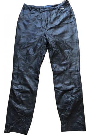 Escada Leather straight pants