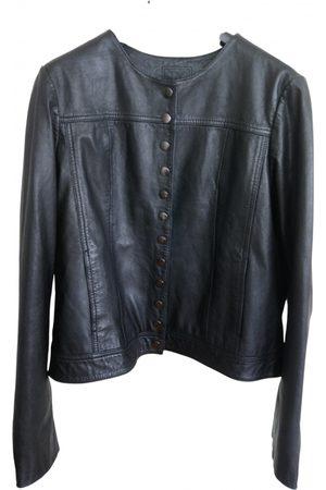 Kookai Women Leather Jackets - Leather biker jacket