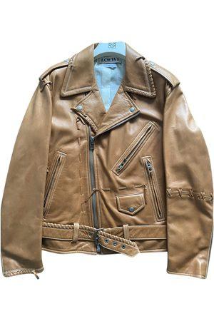 Loewe Camel Leather Jackets