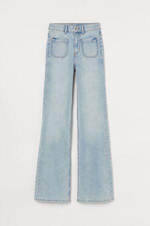 H&M Women High Waisted - Flare High Waist Jeans