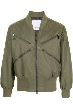 Ports V Bomber Jackets - Zip-embellished bomber jacket