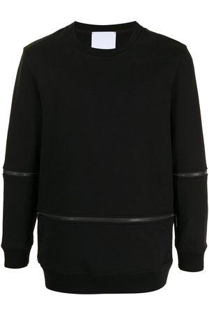 Ports V Sweatshirts - Zip details crew neck sweatshirt