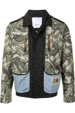 Ports V Bomber Jackets - Panelled camouflage print bomber jacket