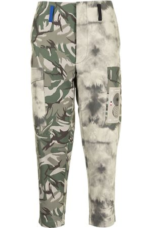 Ports V Camouflage tie-dye tapered trousers
