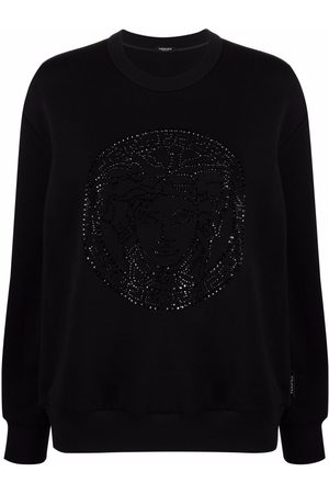 VERSACE Medusa crystal-embellished sweatshirt