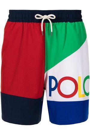 Polo Ralph Lauren Logo-printed colour-block swim shorts - Multicolour