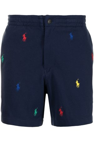 Polo Ralph Lauren Men Sports Shorts - Polo-pony embroidered track shorts