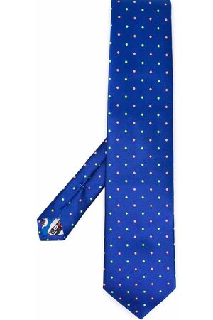 PAUL SMITH Embroidered dot-pattern tie