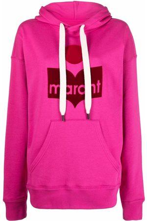 Isabel Marant Mansel flocked-logo hoodie