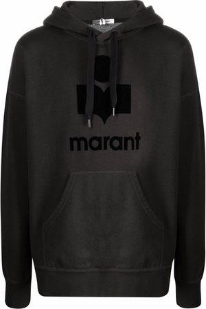 Isabel Marant Miley flocked-logo hoodie