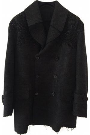Alexander McQueen Anthracite Wool Coats