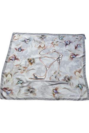 Jimmy Choo Grey Silk Scarves