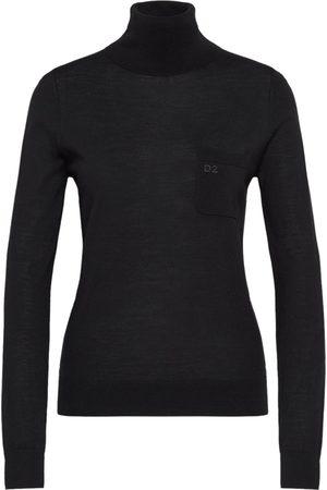 Dsquared2 Women Turtlenecks - D2 Logo Roll Neck Sweater