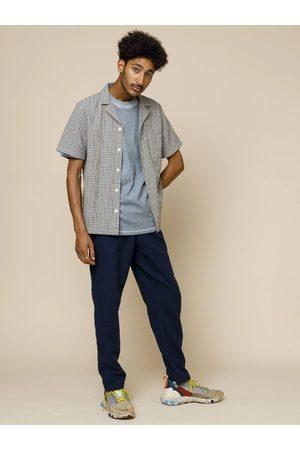 FOLK CLOTHING Folk Soft Collar Shirt in Windowpane Check