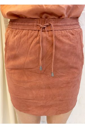Second Female Women Leather Skirts - Pril Suede Skirt Rosewood