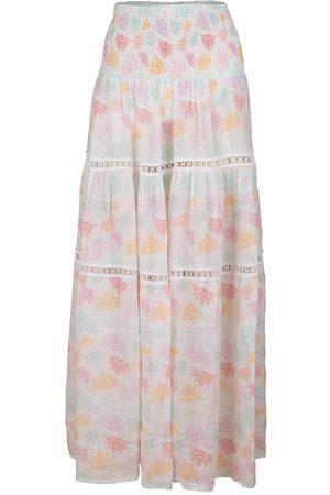 Temptation Positano Women Printed Skirts - Salina Butterfly Print Shirred Waist Maxi Skirt