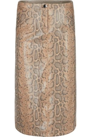 Marc Cain Women Printed Skirts - FAUX SUEDE SKIRT WITH SNAKE PRINT