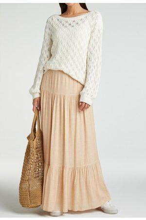 YaYa Viscose printed maxi skirt frappe dessin