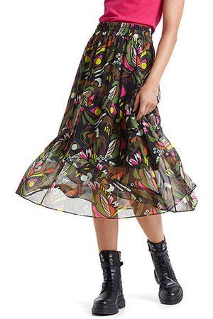 Marc Cain Frenzy Print Skirt