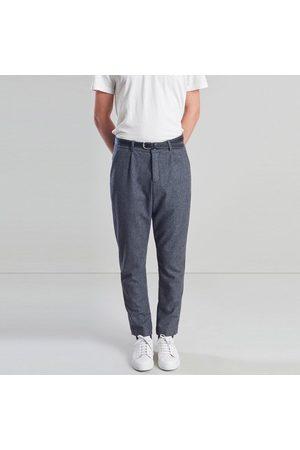 L'exception Paris Men Formal Pants - Tailored Japanese Wool Pants Grey