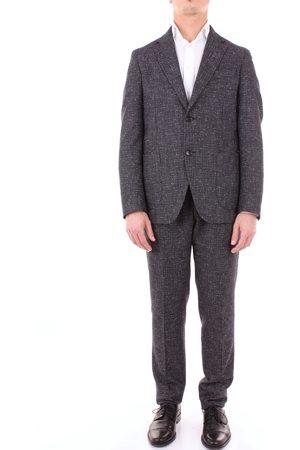 LUIGI BORRELLI NAPOLI Men Suits - Complete Single-breasted suits Men Midnight and white