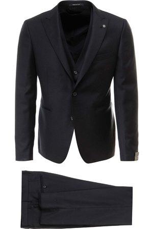 TAGLIATORE Men Waistcoats - Virgin wool suit with vest