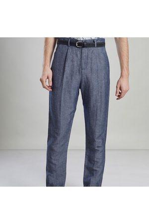 L'exception Paris Men Formal Pants - Japanese Suit Trousers Petrol