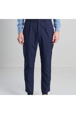 L'exception Paris Men Formal Pants - Darted Suit Trousers Navy