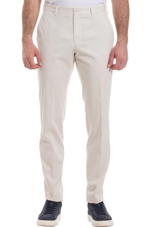 HUGO BOSS STANINO17-W Open Slim-fit Trousers in Washed Stretch Cotton 50450341