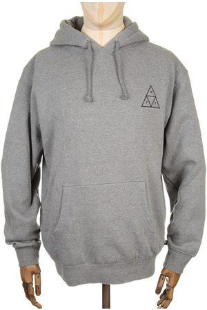 Huf Triple Triangle Hooded Sweatshirt - Heather Grey Medium, Colour: Heather Grey
