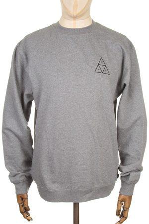 Huf Triple Triangle Sweatshirt - Heather Grey Medium, Colour: Heather Grey