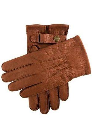 Dents Men Gloves - Canterbury Cashmere Lined Deerskin Leather Gloves - Havana