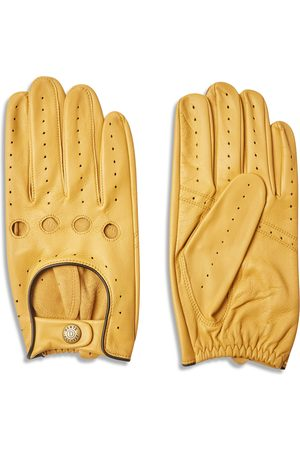 Dents Men Gloves - Delta Classic Leather Driving Gloves - Cork with Black