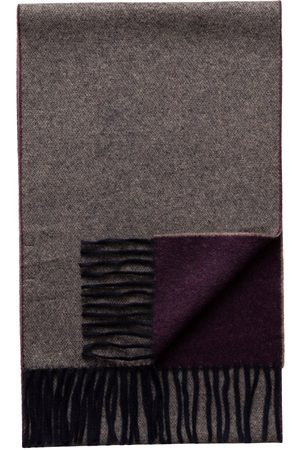 Eton Purple / Marled Double Sided Wool Scarf A00031897700