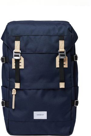 Sandqvist Women Purses - Harald Backpack - Navy With Natural Leather