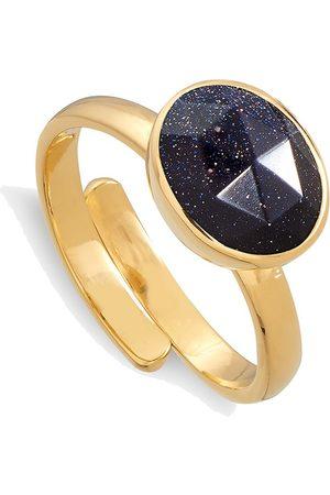 SVP JEWELLERY SVP Atomic Midi Adjustable Ring - Blue Sunstone &