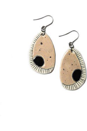 Isla Ibiza Clay Ceramic Dangle Ear-Rings - Baby