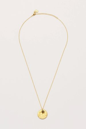 Estella Bartlett Disc and Mini Gemstone Pendant Necklace