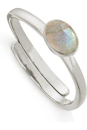 SVP JEWELLERY SVP Atomic Micro Adjustable Ring - Silver & Labradorite