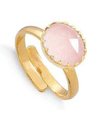 SVP JEWELLERY Sunday Girl 18 Carat Vermeil Ring - Rose Quartz