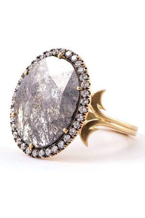 Sylva & Cie Oval Rough Cut Diamond Ring