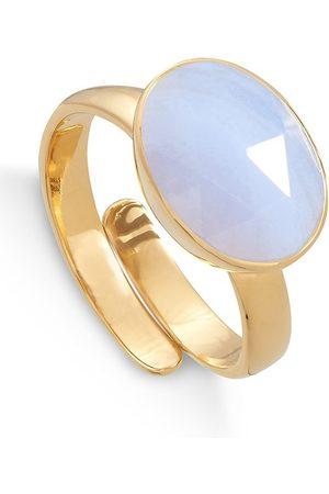 SVP JEWELLERY SVP Atomic Maxi Adjustable Ring - & Blue Lace Agate