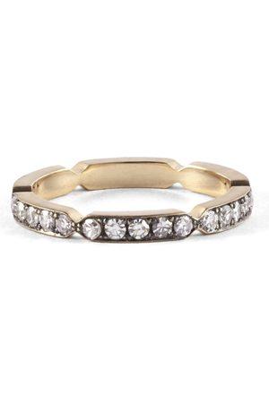 Sylva & Cie Women Rings - Diamond Pinch Eternity Band - Yellow