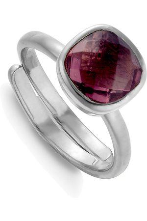 SVP JEWELLERY Women Rings - SVP Highway Star Adjustable Ring - Rhodo Quartz