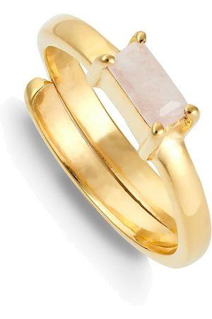 SVP JEWELLERY Women Rings - SVP Nivarna Small Adjustable Ring - Gold & Morganite