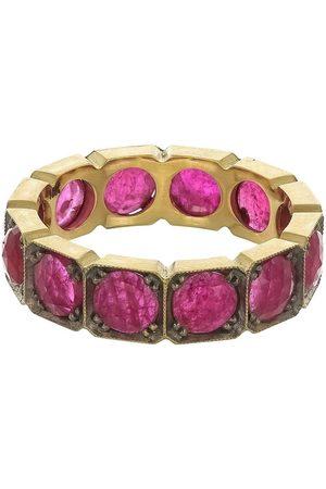 Sylva & Cie Square Ruby Band Ring